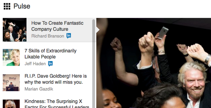 Even Sir Richard Branson uses LinkedIn Pulse for traffic