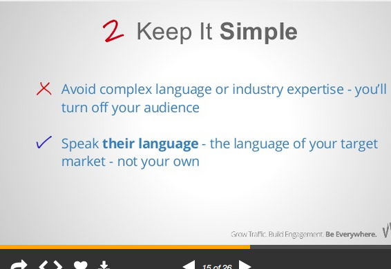Keep your SlideShare presentation easily scannable