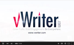 Watch vWriter.com's 'logo sting' video via some of the videos on our video channel