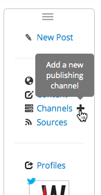 Add a new publishing channel to your account