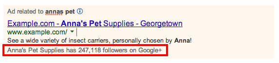 Google+, adwords, social annotations