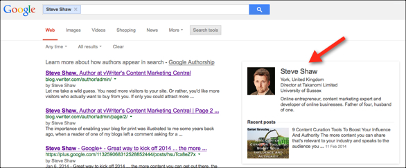 Google Authorship - search engine placement