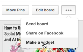 Make a widget ... and embed a pinboard on your website