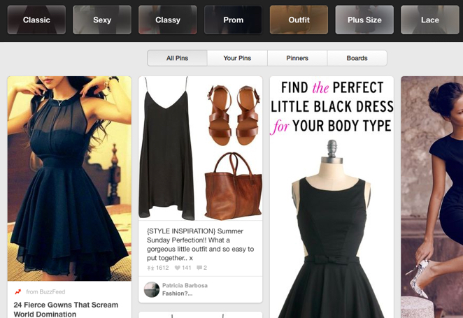 Pinterest users have a shopping mentality