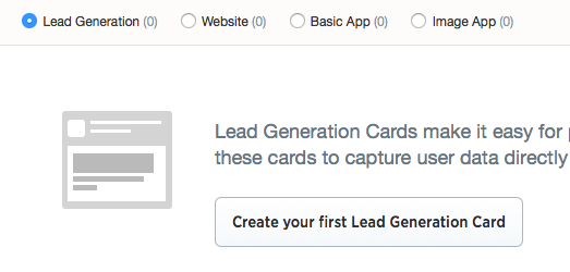Twitter Cards - Lead Generation