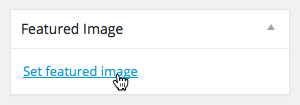 Setting a Featured Image within Wordpress