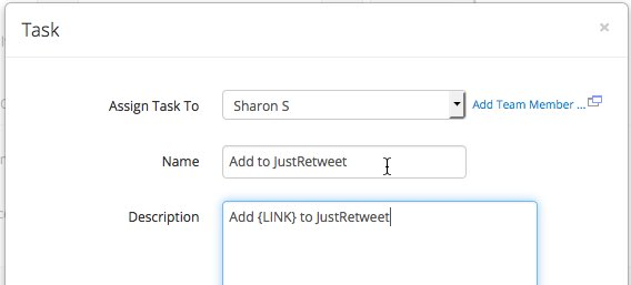 Using vWriter to systemize the regular usage of JustRetweet, by auto-delegating the task each time I publish new content