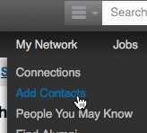Add contacts on LinkedIn