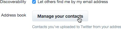 Twitter - manage contacts
