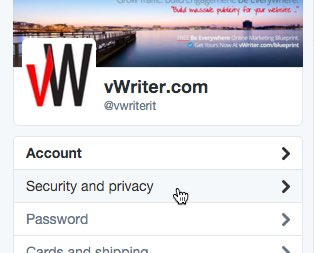 Twitter - security and privacy