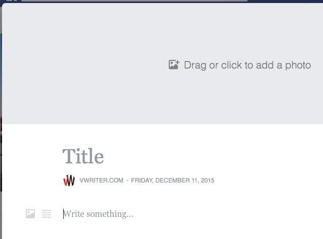 The Facebook Notes interface