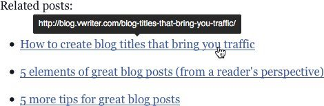 Try adding related posts as links