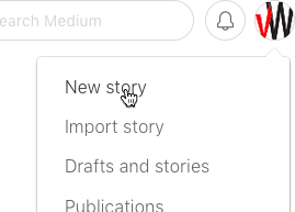 Adding a New Story on Medium