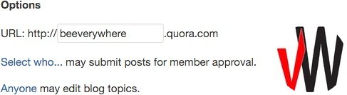 Add an icon to your Quora blog