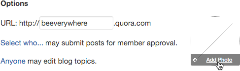Add a photo or icon to your Quora blog
