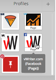 Just click a profile on the sidebar and it will be added to the Publishing Channel