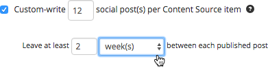 Set multiple social posts to be created