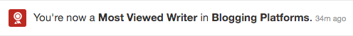 Most Viewed Writer for a topic on Quora