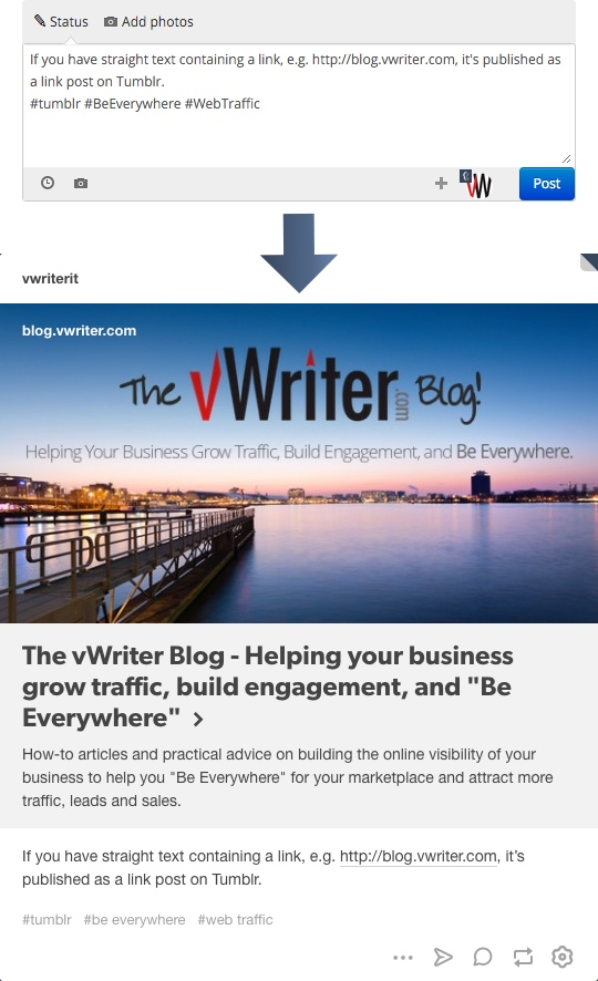 How to Post to Tumblr from vWriter - The vWriter Blog