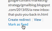 Click Mark as fixed within Yoast