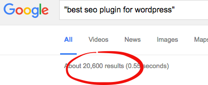 Competition for the keyword on search is low