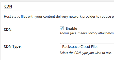 Enable the CDN and select the network you use