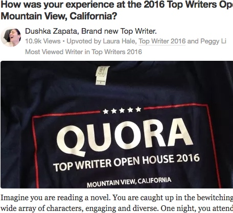 Become a Top Writer on Quora and connect with influencers