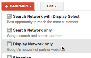 Start an opt-in retargeting campaign via Google's Display Network