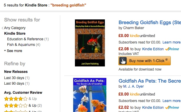Check what the competition is like on Amazon in terms of the supply of books using the same keyword