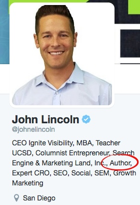 John Lincoln's Twitter profile