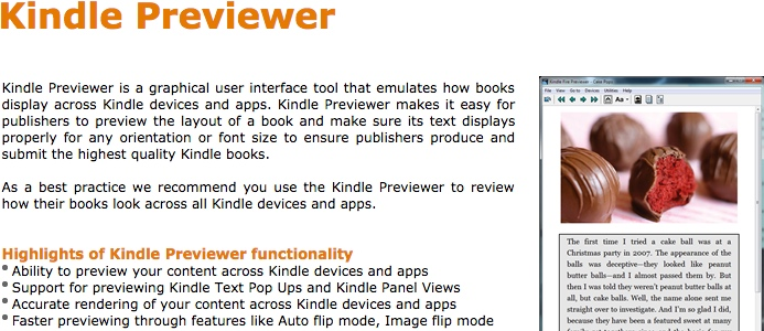 Kindle Previewer tool from Amazon