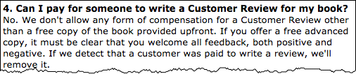 Amazon do not allow you to pay someone to write a Customer Review