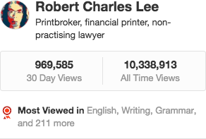 Robert Charles Lee's profile on Quora