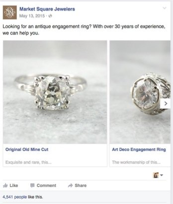 Example of a successful Facebook ad