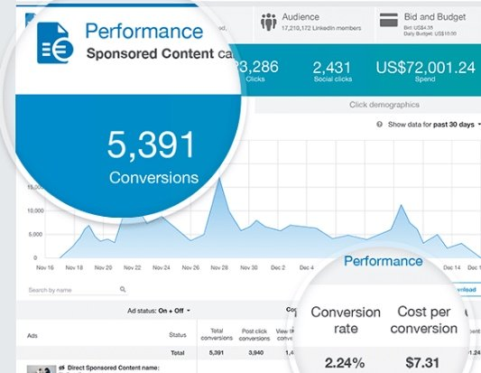 Using LInkedIn's ad analytics