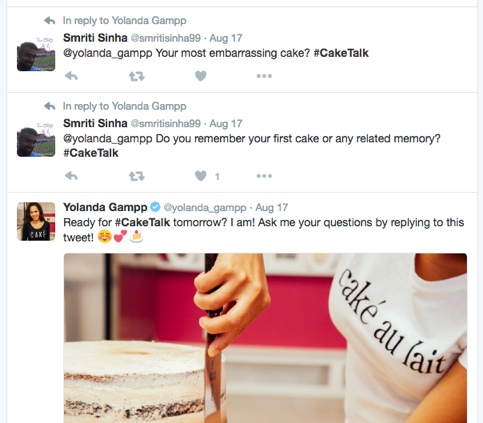 Twitter chats cover all manner of topics - there's even one on cakes