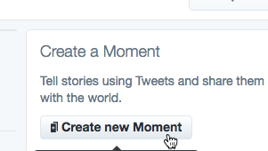 Click the Create New Moment button