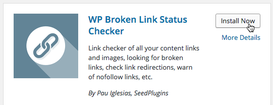 Install the WP Broken Link Status Checker