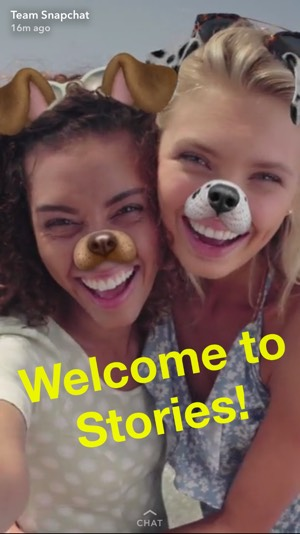 Snapchat welcome Snap screenshot