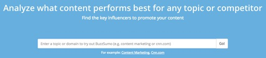Buzzsumo - content analysis which can help SEO