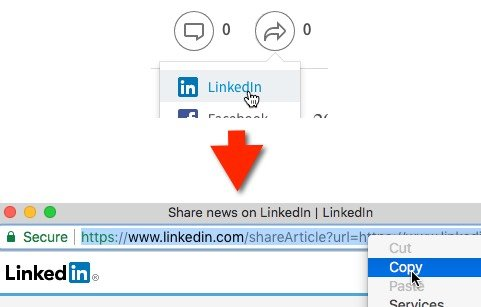 Incorporate links within your content to help others share it on LinkedIn